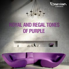 Make your #livingroom stand out with attractive, trendy yet fabulous tones of #purple for a royal and sophisticated look. #coloursofnavratri