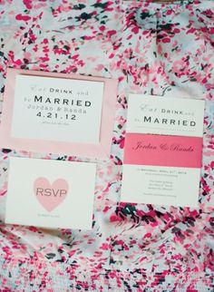 Wedding invitation / sweet and simple