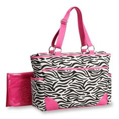 Carter's Fashion Tote Bag, Zebra Print