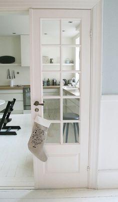 Light and Fresh kitchen entryway. 10 lite French Door. #style #interiordoor #white