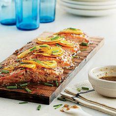 | Washington: Mustard-glazed Planked Salmon | CoastalLiving.com
