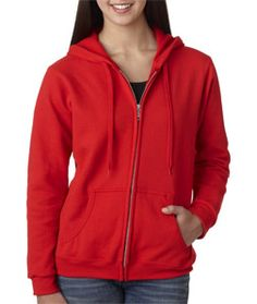 Heavy blend zipped hoodie