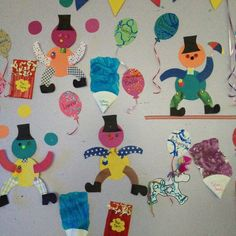 Carnival theme wall art display for preschool.
