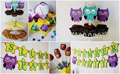 Night Owl Slumber Party Package details by Pinwheel Lane on etsy