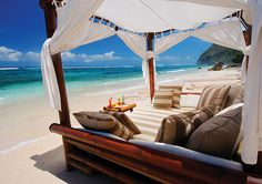 Gorgeous! vacation spots, bali, beaches, beds, dream, cabanas, paradise, place, heavens