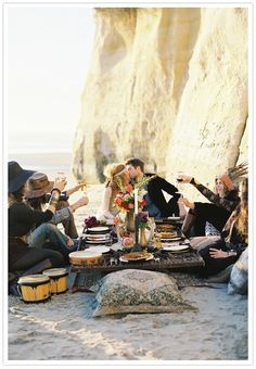 Gypsy Beach Wedding.