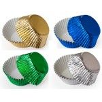 Colored Foil Cupcake Liners, MINI Size Baking Cups BULK - 500 Liners (6 Colors Available!)