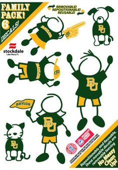 Love this for the back of the family car! // #Baylor Family Car Decal Set ($4.95 at Baylor Bookstore)