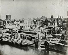 Steamboat pier at Chelsea, c. 1870