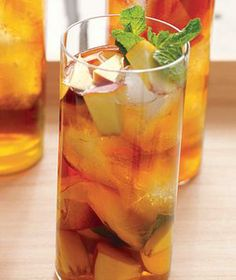 Peach and Mint Iced Tea recipe