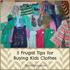 5 #Frugal Tips for Buying #Kids Clothes
