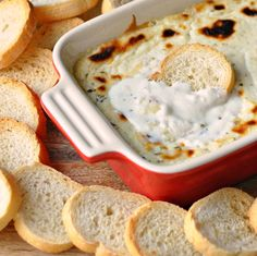 Baked Ricotta Dip with Garlic & Herbs