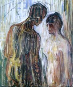 Edvard Munch, Amore e Psiche (1907), olio su tela 119,5 x 99 cm, Oslo, The Munch Museum #art #amoreepsiche #enicultura