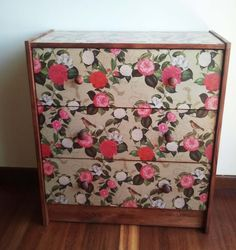 Wrapping Paper Rast Drawer. Tutorial and pretty easy to do!! I think it's beautiful and I plan to do this to a piece I have!!