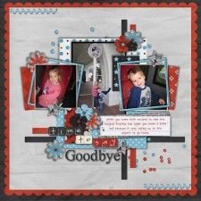 Scrap disney last pages on pinterest saying goodbye for Farewell scrapbook template