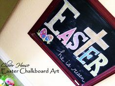 Clover House: Chalkboard Art for Easter