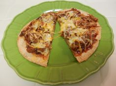 Shelly's BBQ Beef Tortilla Pizza - great use for leftover BBQ.