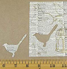 Little Birds Die-Cut Vintage Paper