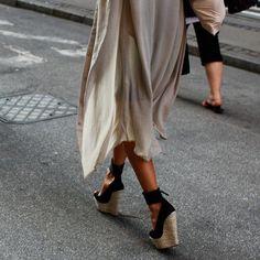 Ankle Wrap Raffia Wedge Sandals