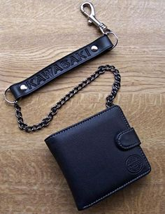 Leather biker wallets by on pinterest for Yamaha leather wallet