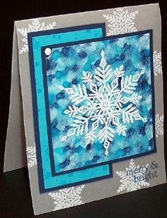 polished stone with emboss resist ~ Splitcoaststampers - Magic Snowflake Technique Tutorial by Vickie Maduzia