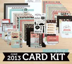 June 2013 Card Kit by Simon Says Stamp.