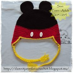 Mickey Mouse Earflap Beanie