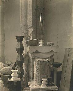 Brancusi's Atelier in Paris by Edward Steichen, 1920