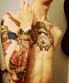 Star Wars theme chest piece, hourglass on the arm.