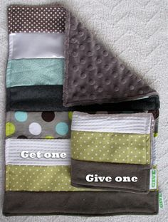 Baby Sensory Security Blanket Lovey -dots and circles - Get One, Give One to babies in Kenya, $30.00
