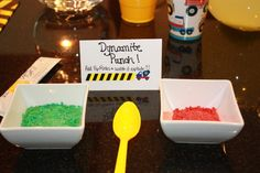 Construction | CatchMyParty.com Pop rocks in drink.