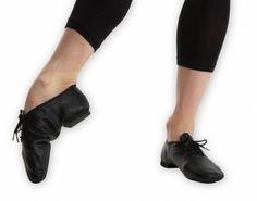 """Ref: RV401  Revolution's Premium Split-Sole Jazz Shoe. The classic jazz shoe • Premium leather split-sole design • rubber sole patch and 3/8"""" heel."""