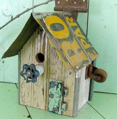 Image detail for -23. Unique birdhouses made from recycled and found items!