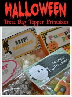 Halloween Treat Bag Topper {PRINTABLES}
