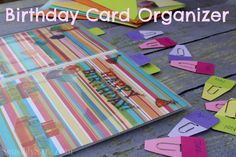 Birthday Card Organizer #shop | SensiblySara.com
