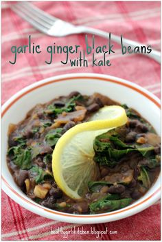 Healthy Girl's Kitchen: Cuban Black Beans with Kale