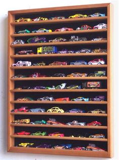 hot wheels display case-I might have to have Luke make this : )