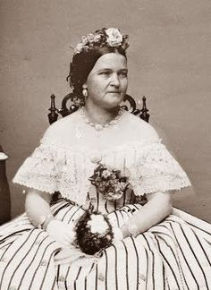 First Lady Mary Todd Lincoln, wife of Abraham Lincoln.
