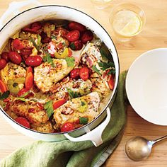 Chicken in Wine Sauce Recipe | MyRecipes.com