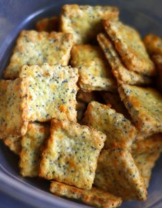 Parmesan-Cheddar Crackers with Poppy Seeds