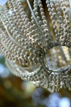 Dollar Store Crafts » Blog Archive » Make a Beaded Chandelier