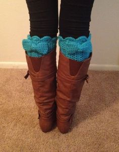 Boot cuffs/Leg warmers keep you warm while adding a nice pop of color or design to your comfy outfit