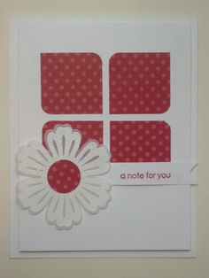 A RED NOTE Stampin Up greeting card