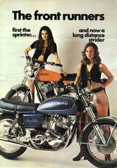 vintage Norton motorcycles ad