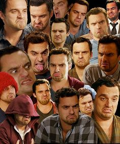 whoever made this is awesome!!! new girl/ Nick's faces,great wallpaper lol