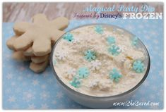 Magical Party Dip Inspired by Disney's Frozen.  We are doing this for our Christmas party this year!
