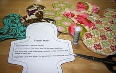 Cloth Menstrual Pad Patterns and Tutorial - US letter paper size