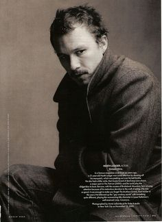 Heath Ledger - Vanity Fair by Annie Leibovitz, March 2006