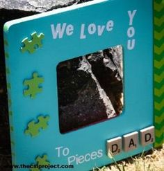 DIY Father's Day Puzzle Frame