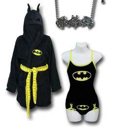 "AROUND THE HOUSE: ""Batgirl"" outfit by Danielle Deihm Robe: http://www.superherostuff.com/batgirl/robes/batgirl-costume-womens-fleece-robe.html?itemcd=robebatgcst&utm_source=pinterest&utm_medium=social&utm_campaign=featuredoutfit Necklace: http://www.superherostuff.com/batman/necklaces/batman-stone-charm-necklace.html?itemcd=jewlbatstnnklc&utm_source=pinterest&utm_medium=social&utm_campaign=featuredoutfit"